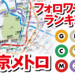 東京メトロ各線の公式ツイッターフォロワー数ランキングを発表!
